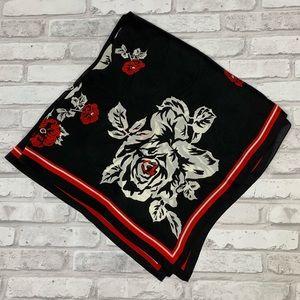 Anne Klein Silk Floral Scarf